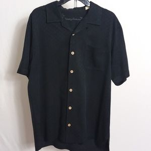 Tommy Bahama Men's Black Short Sleeve Shirt Size M